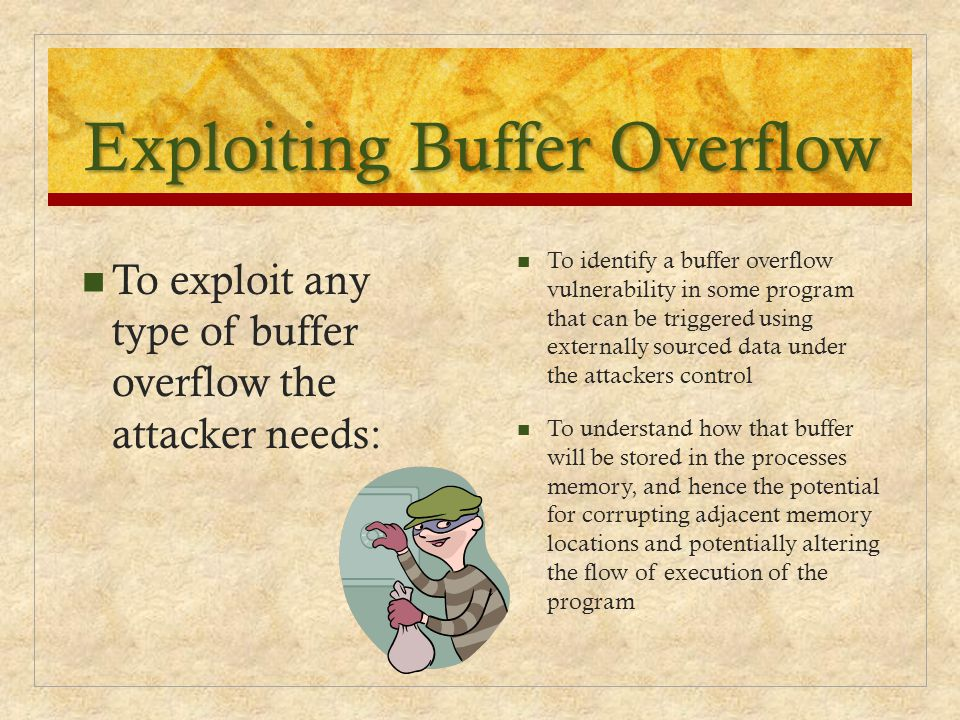Exploiting Buffer Overflow