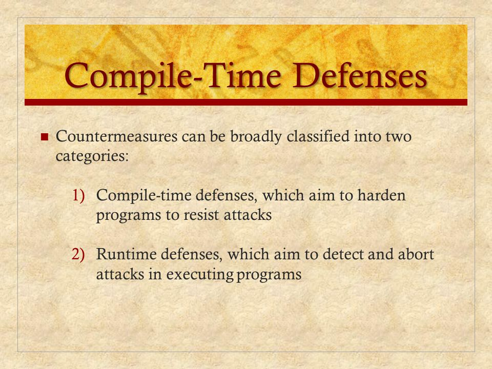 Compile-Time Defenses