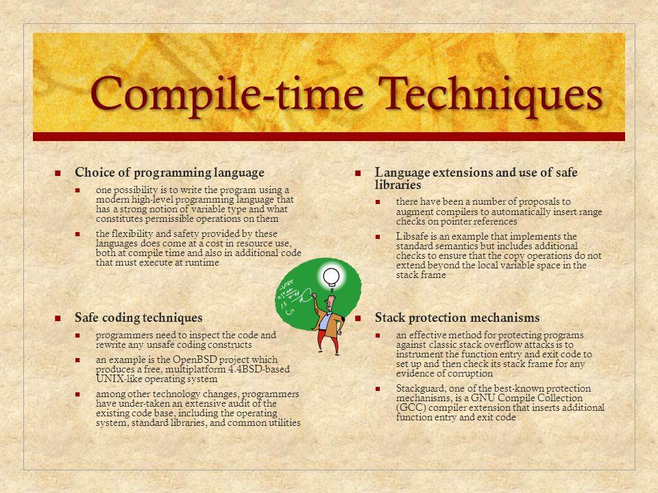 Compile-time Techniques
