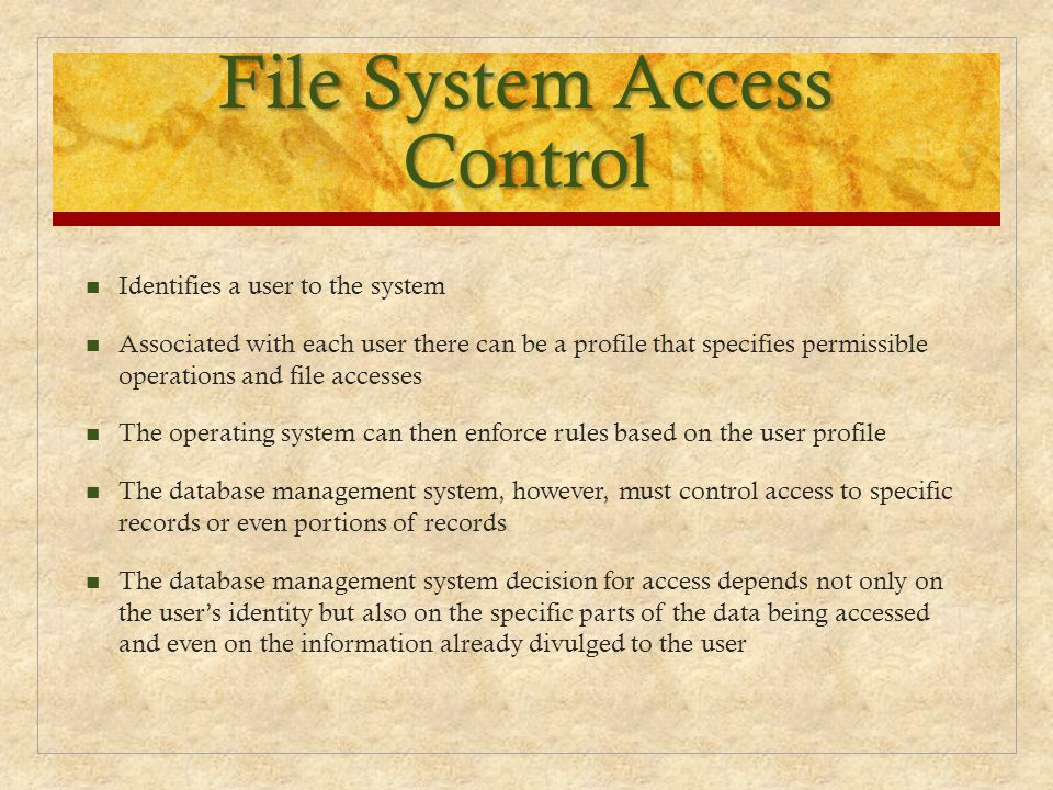 File System Access Control