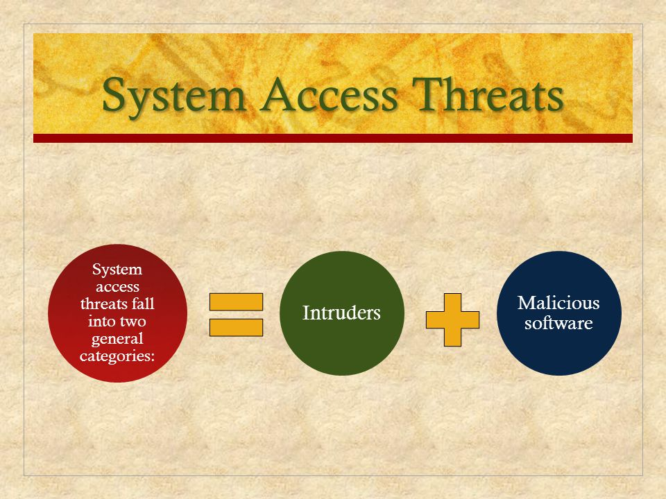System access threats fall into two general categories: