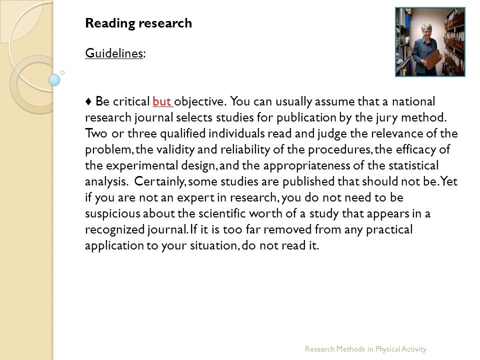 Reading research Guidelines: