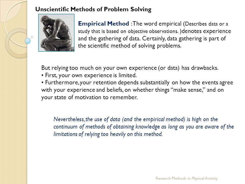 Unscientific Methods of Problem Solving