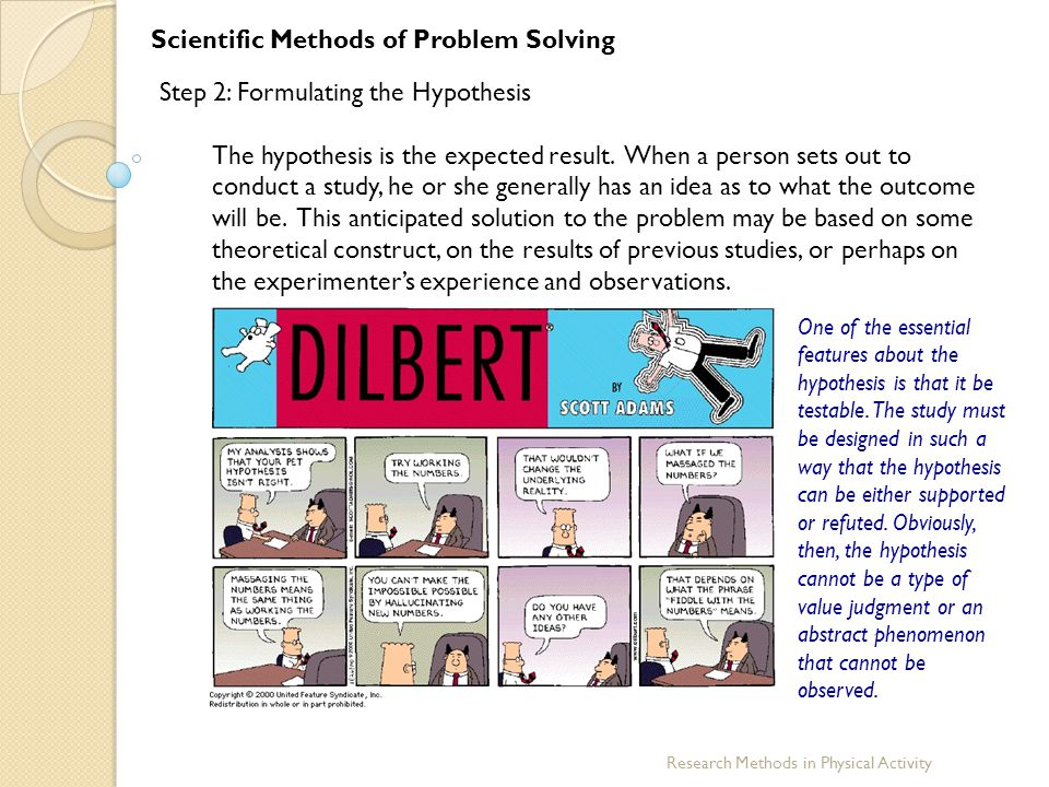 Scientific Methods of Problem Solving