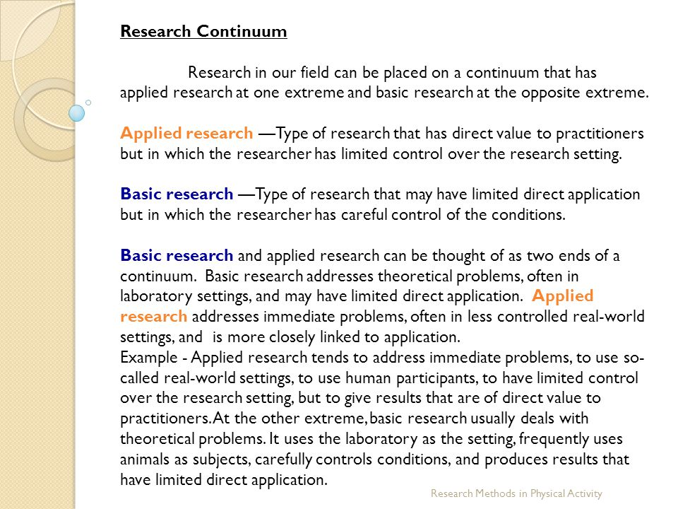 Research Continuum