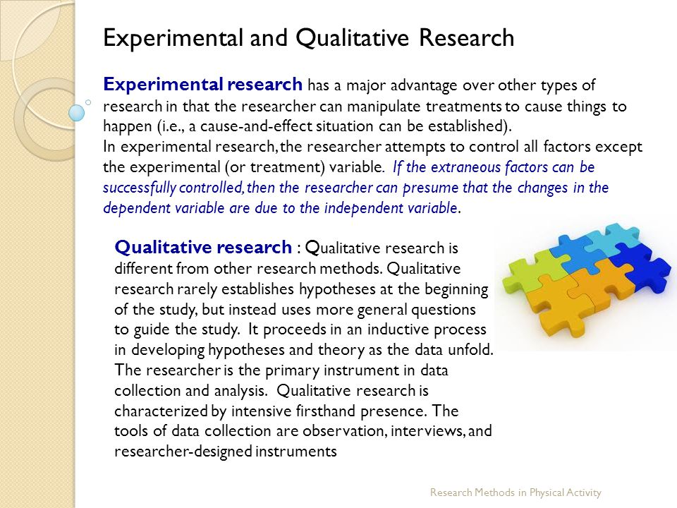 Experimental and Qualitative Research