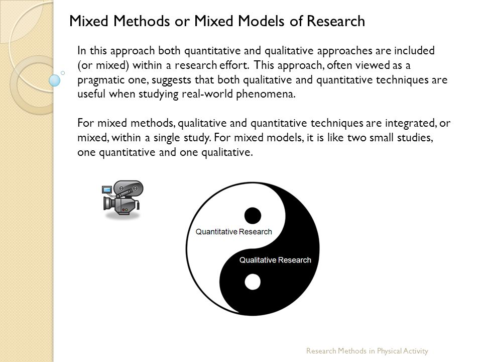 Mixed Methods or Mixed Models of Research
