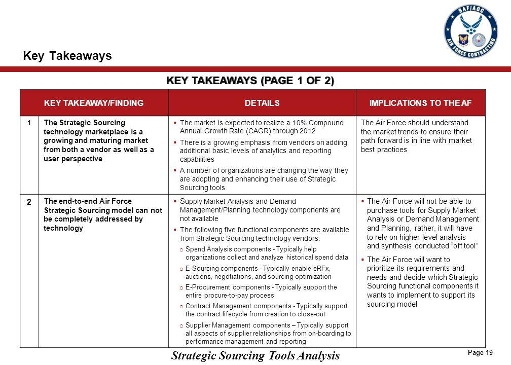 KEY TAKEAWAYS (PAGE 2 OF 2)