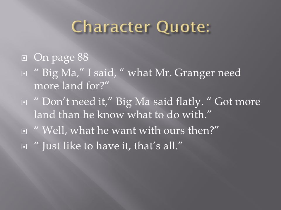 Character Quote: On page 88