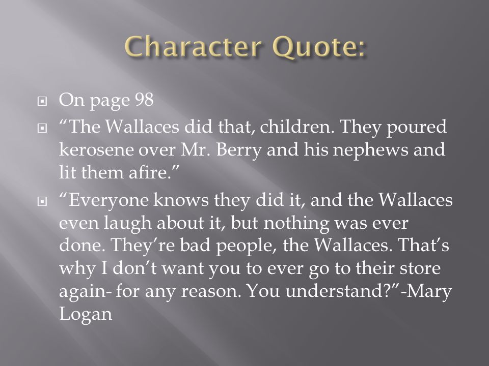 Character Quote: On page 98