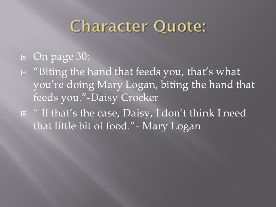 Character Quote: On page 30:
