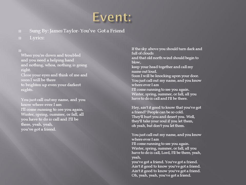 YOU'VE GOT A FRIEND Chords - James Taylor | E-Chords
