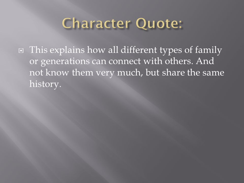 Character Quote: