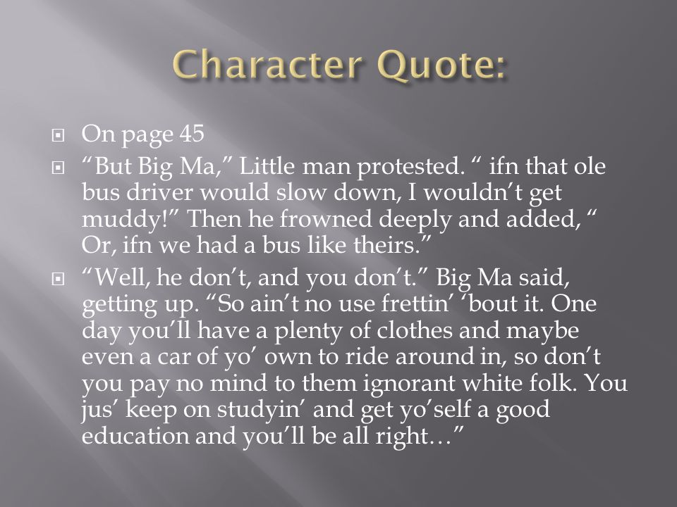 Character Quote: On page 45