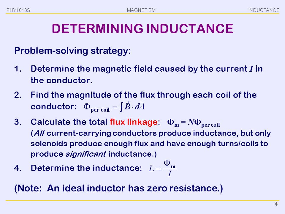 DETERMINING INDUCTANCE