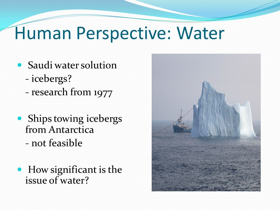 Human Perspective: Water