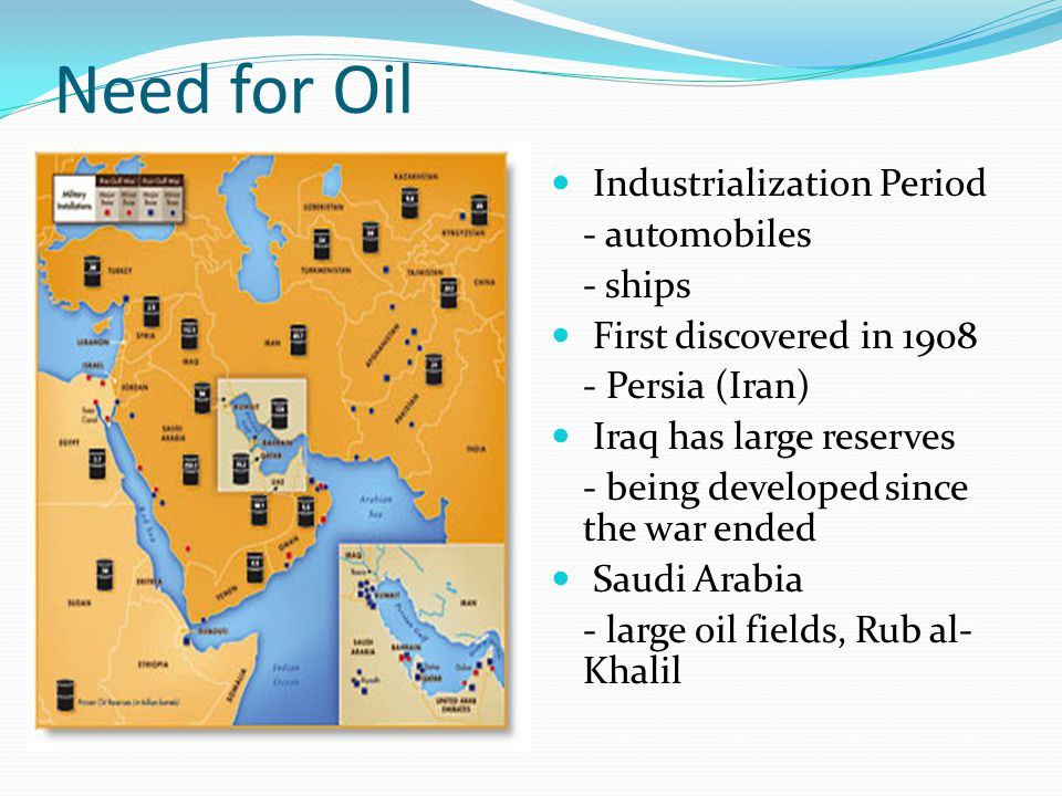 Need for Oil Industrialization Period - automobiles - ships
