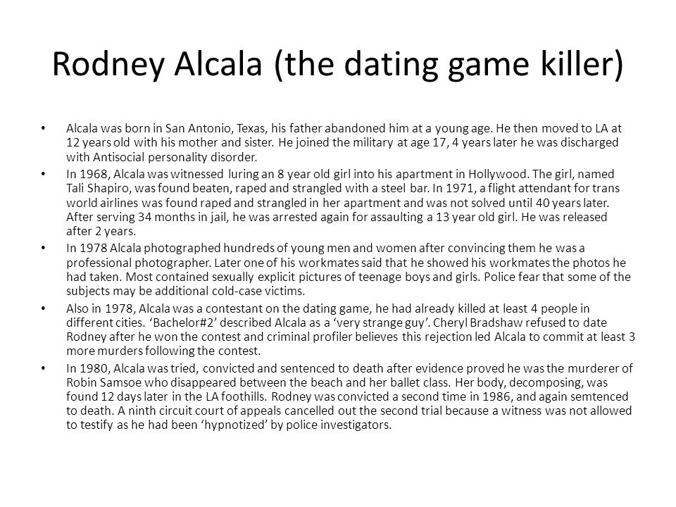 Rodney Alcala (the dating game killer)