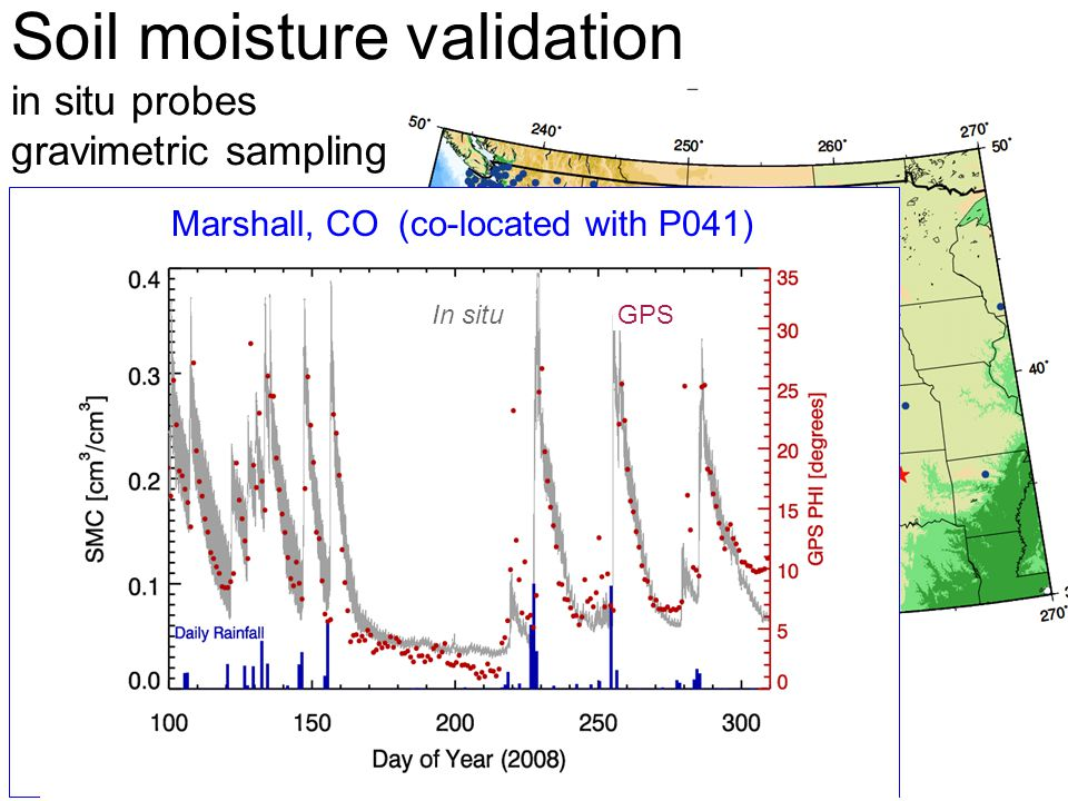 Soil moisture validation in situ probes gravimetric sampling