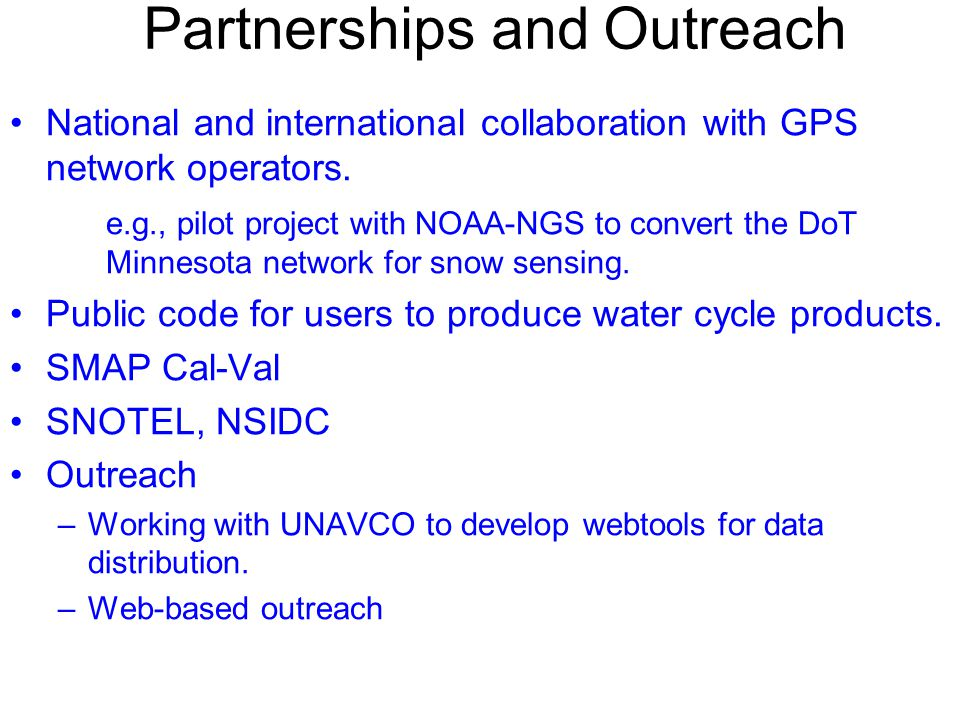 Partnerships and Outreach
