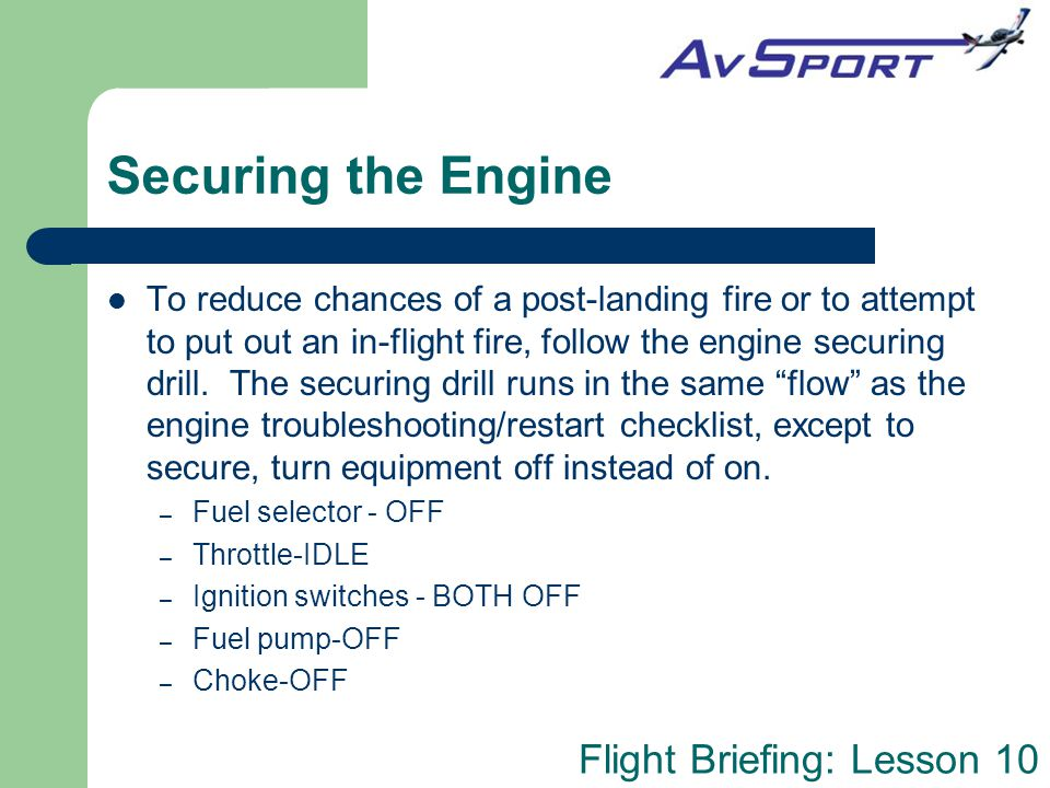 Securing the Engine