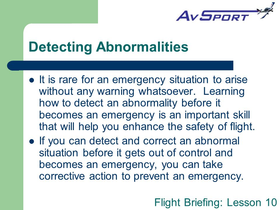 Detecting Abnormalities