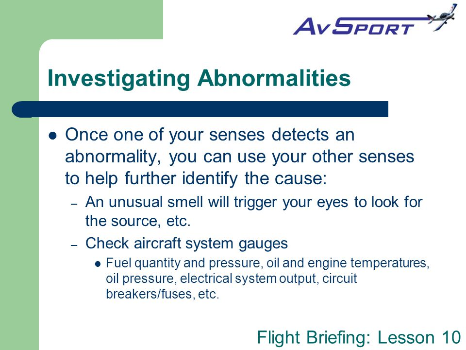 Investigating Abnormalities