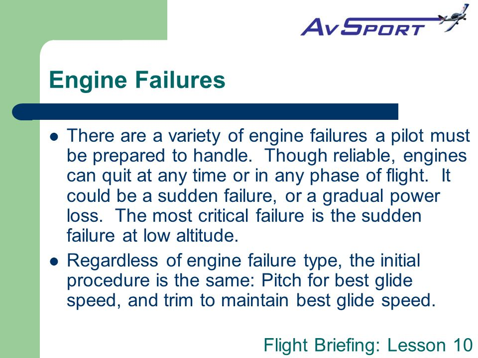 Engine Failures