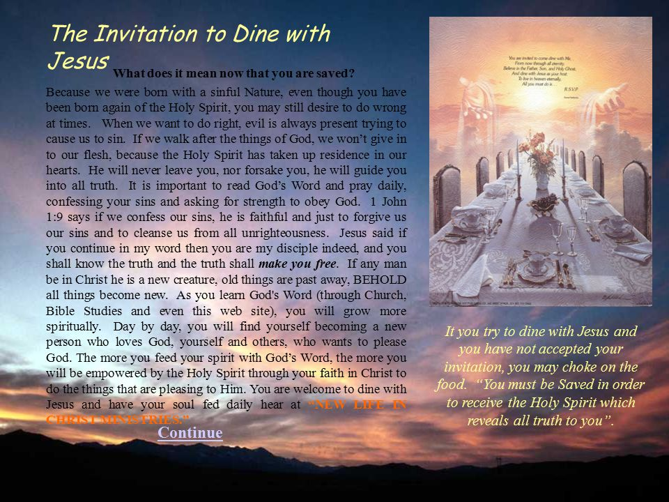 The Invitation to Dine with Jesus