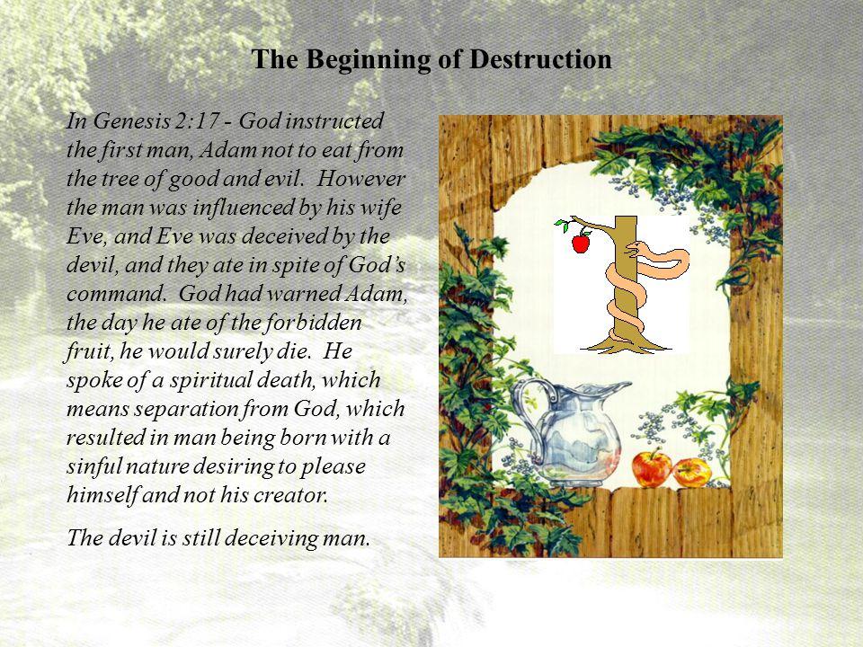 The Beginning of Destruction
