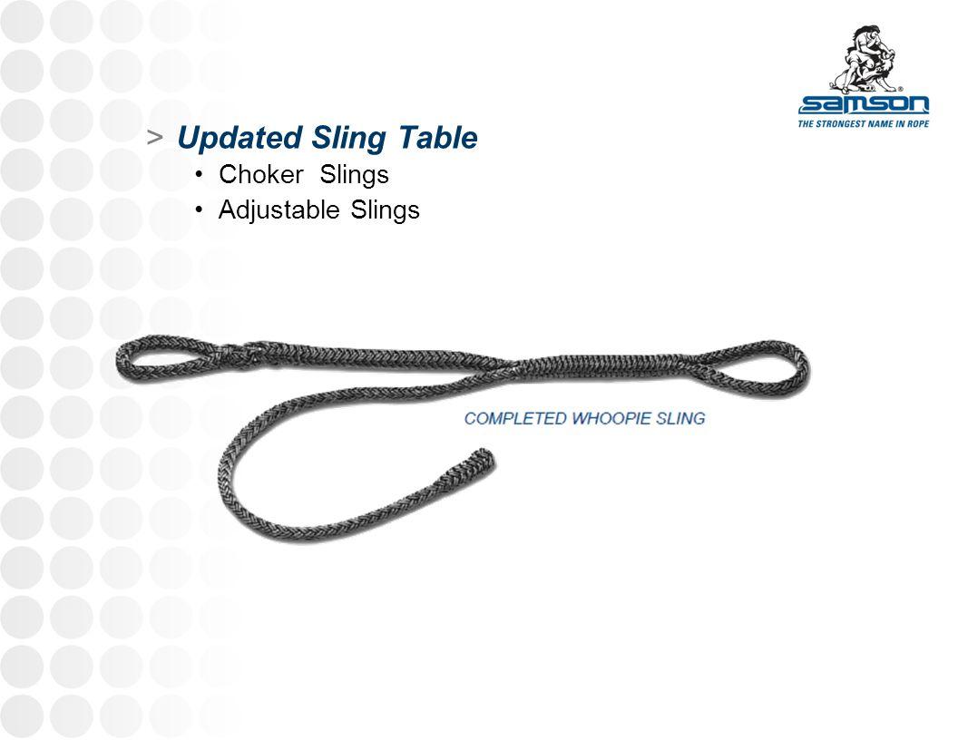 Updated Sling Table Choker Slings Adjustable Slings