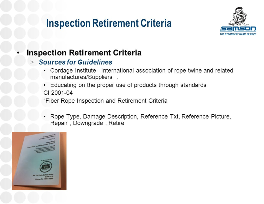 Amazing Wire Rope Inspection Training Powerpoint Pattern ...