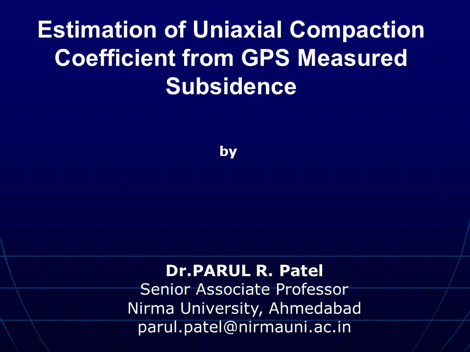 Estimation of Uniaxial Compaction Coefficient from GPS Measured Subsidence