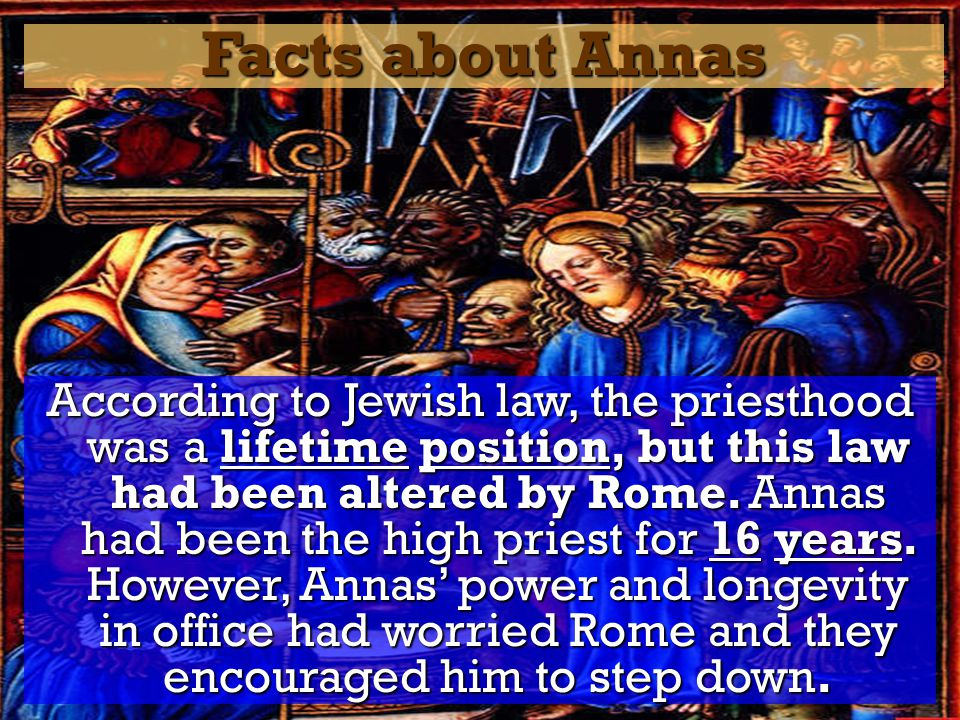 Facts about Annas