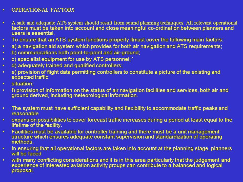 OPERATIONAL FACTORS