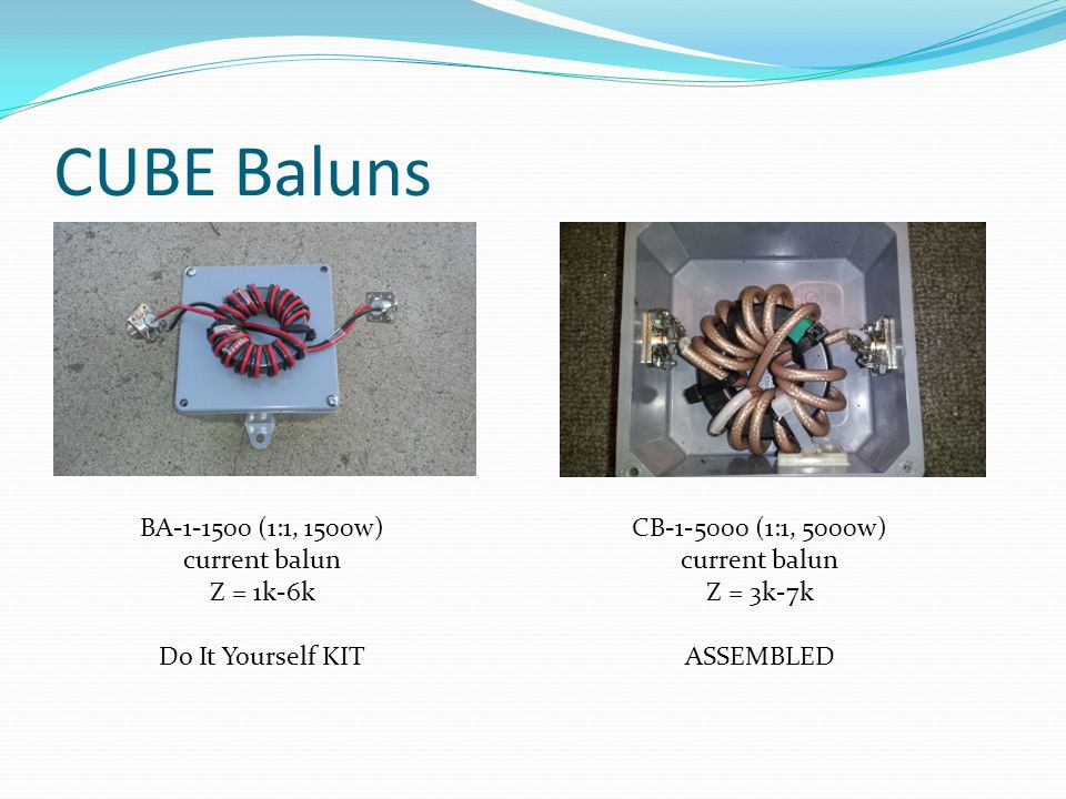 CUBE Baluns BA-1-1500 (1:1, 1500w) current balun Z = 1k-6k