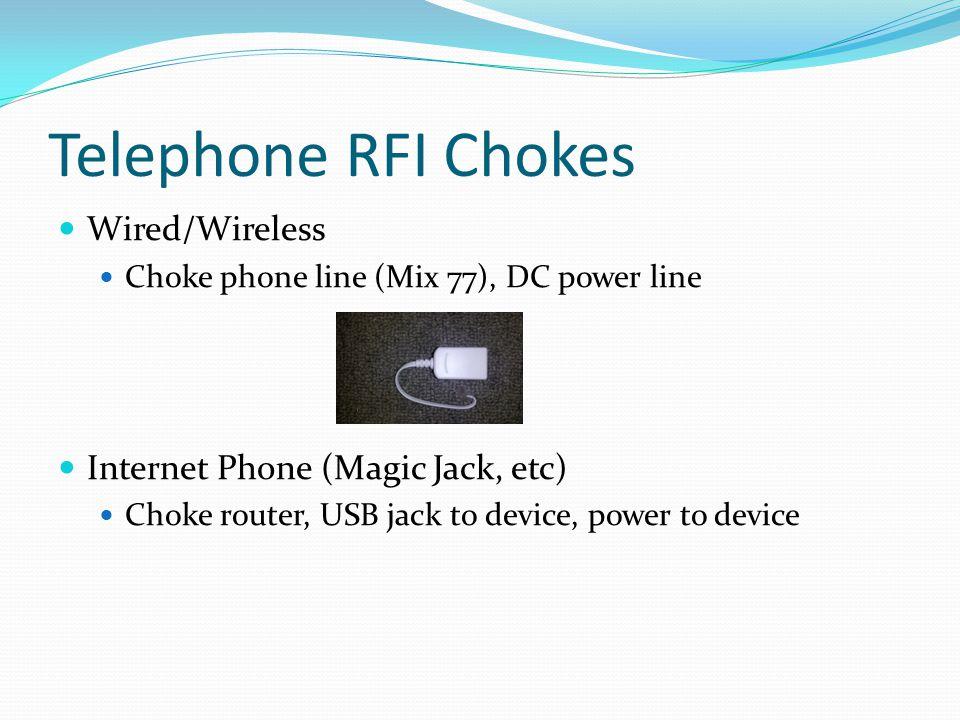 Telephone RFI Chokes Wired/Wireless Internet Phone (Magic Jack, etc)