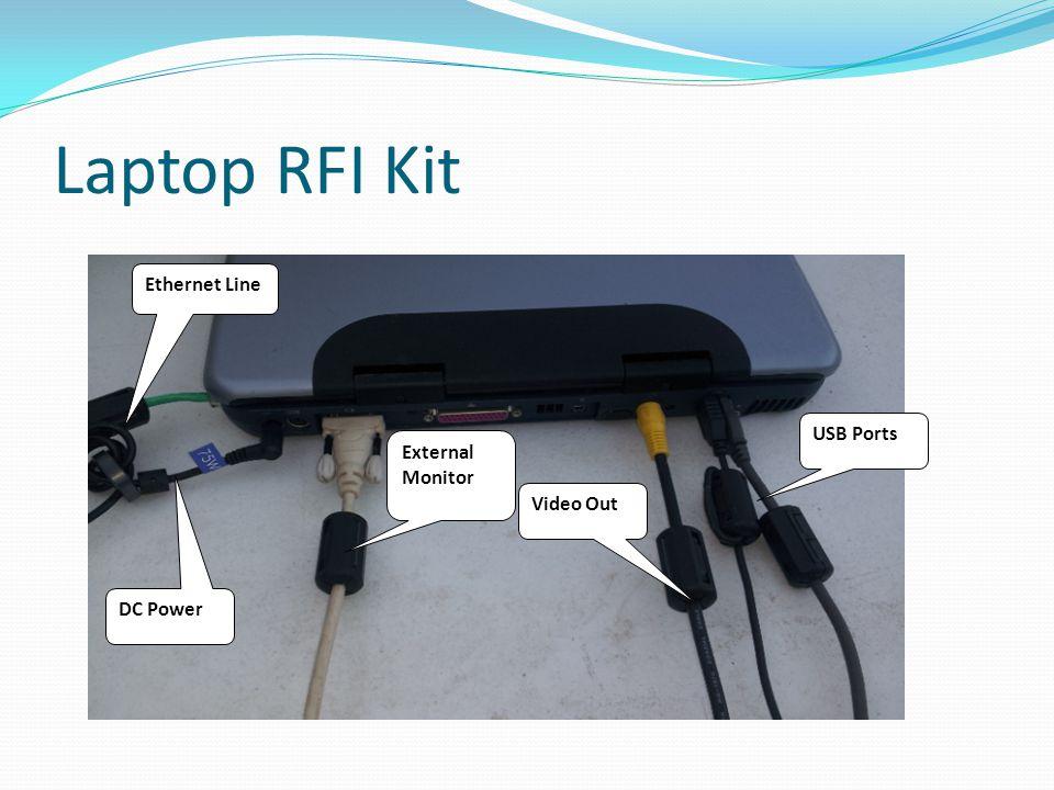 Laptop RFI Kit Ethernet Line USB Ports External Monitor Video Out
