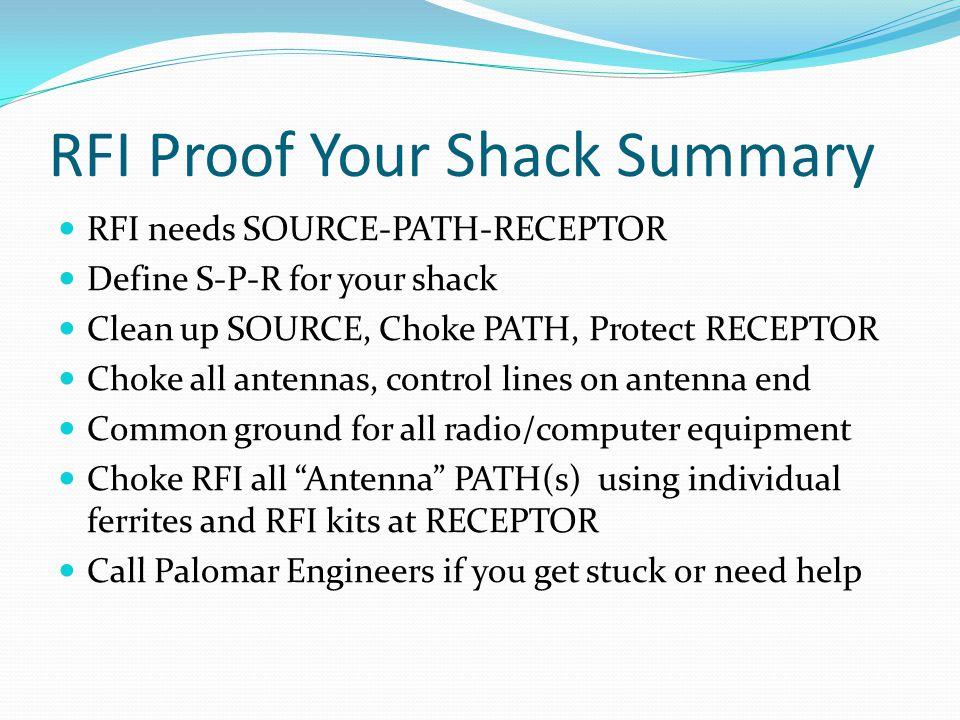 RFI Proof Your Shack Summary