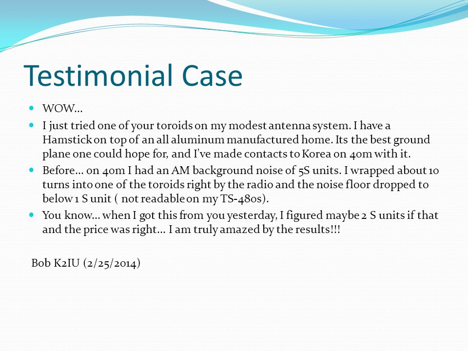 Testimonial Case WOW...
