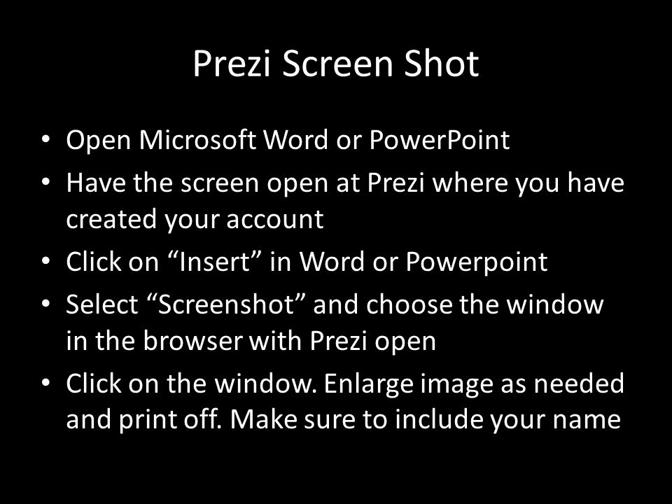 Prezi Screen Shot Open Microsoft Word or PowerPoint