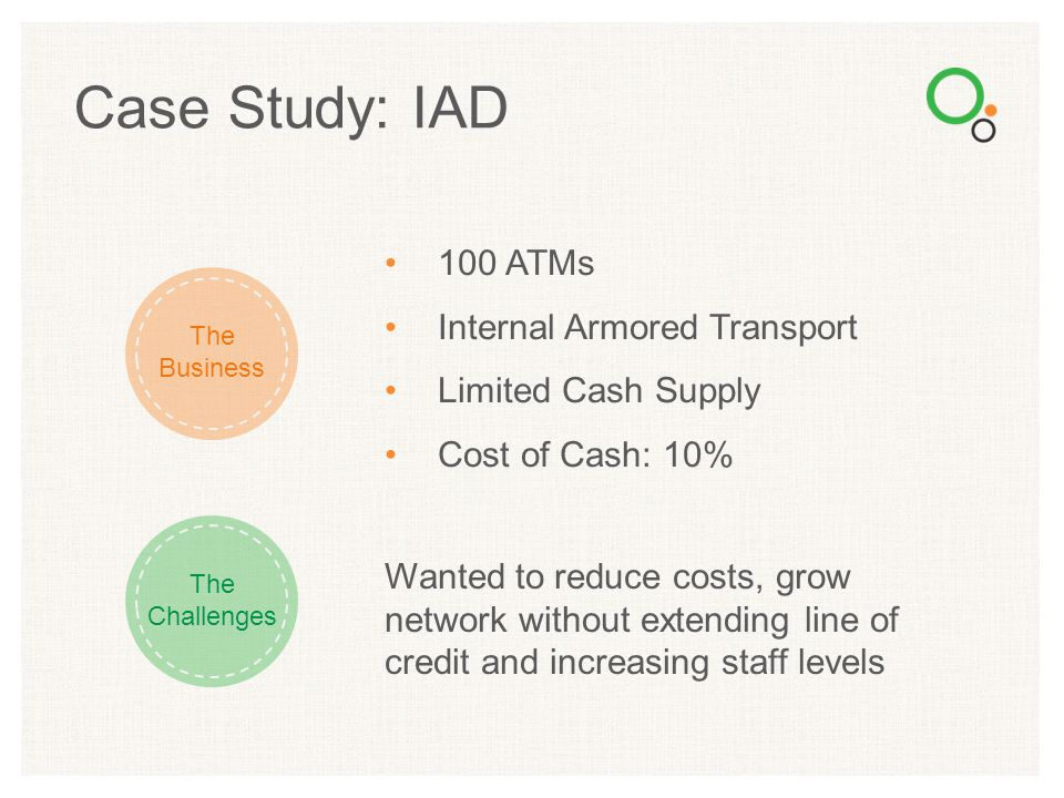 Case Study: IAD 100 ATMs Internal Armored Transport