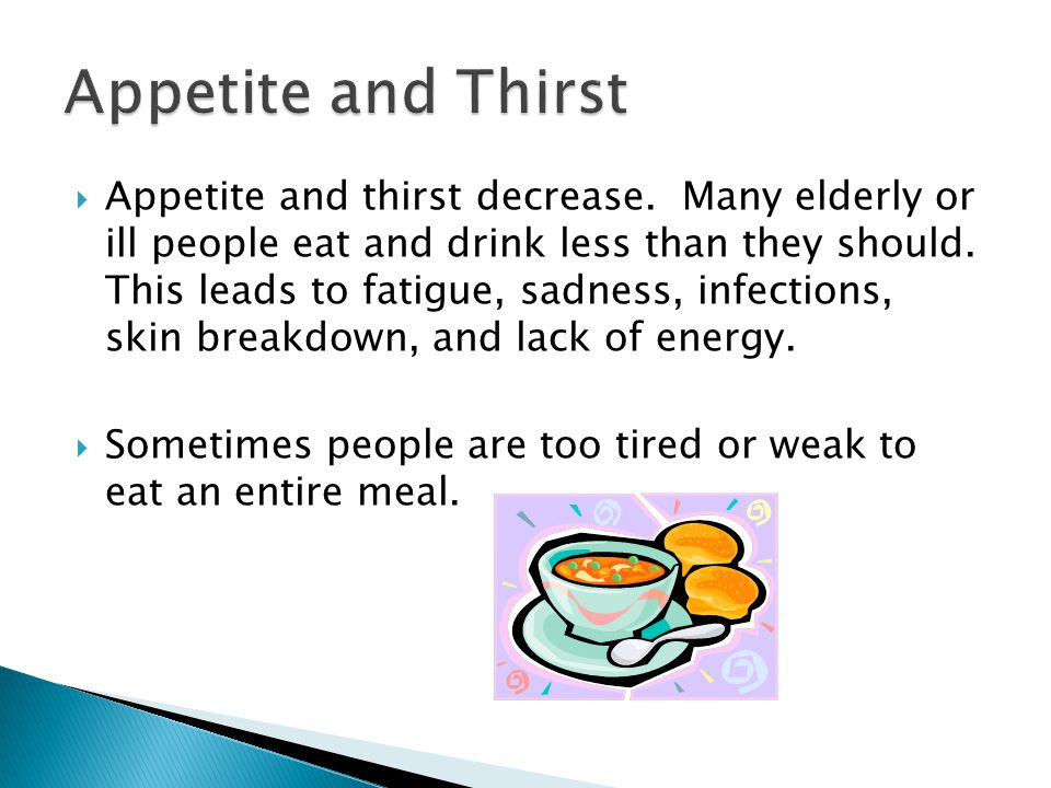 Appetite and Thirst
