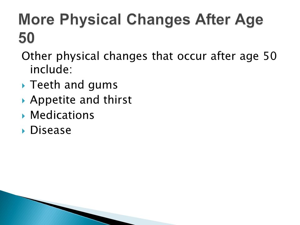 More Physical Changes After Age 50