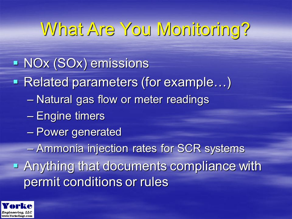What Are You Monitoring