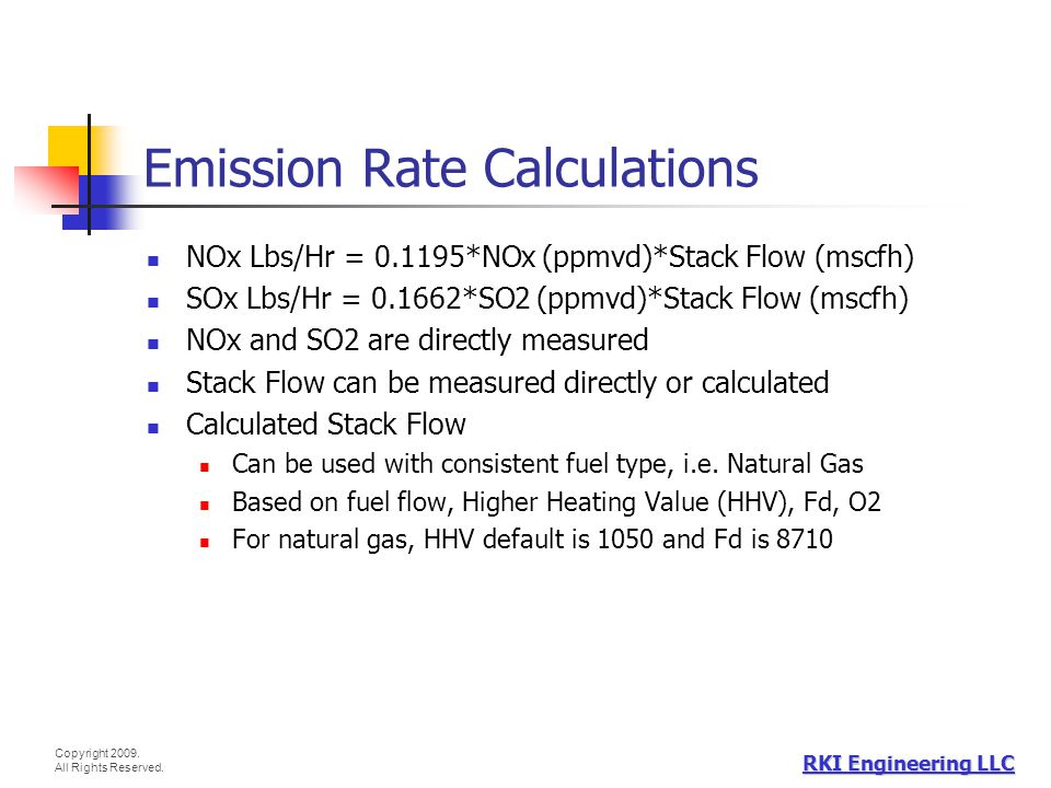Emission Rate Calculations