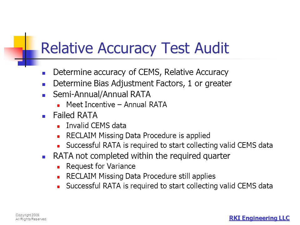 Relative Accuracy Test Audit