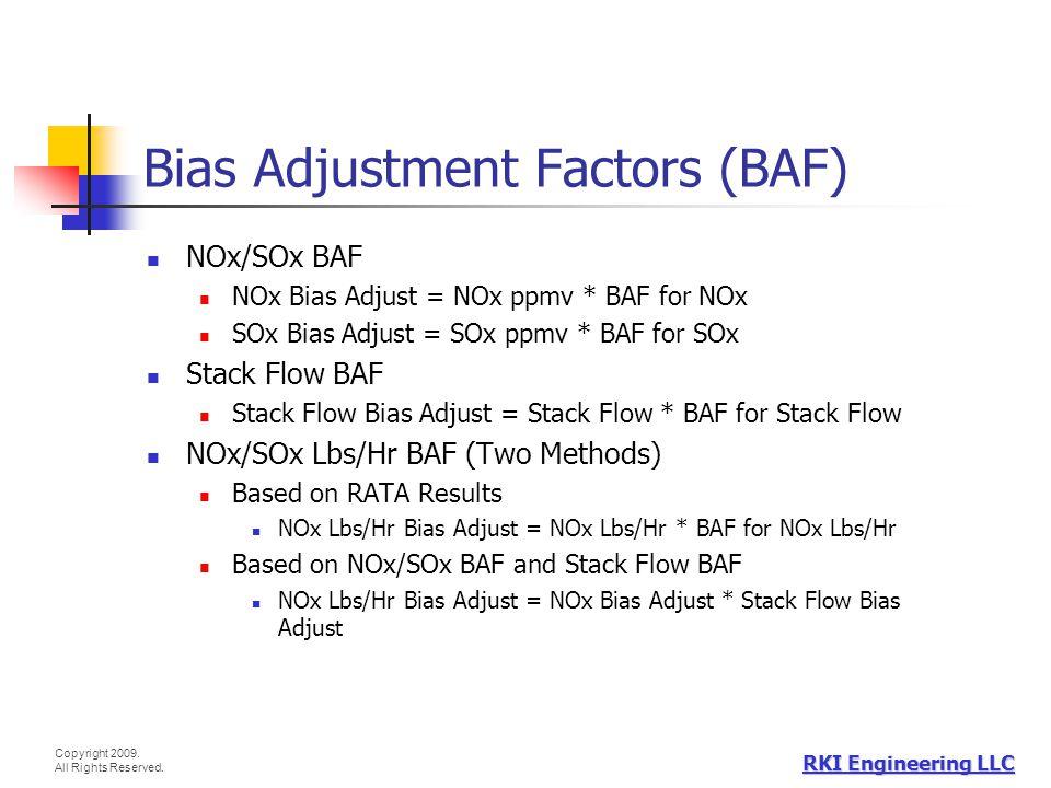 Bias Adjustment Factors (BAF)