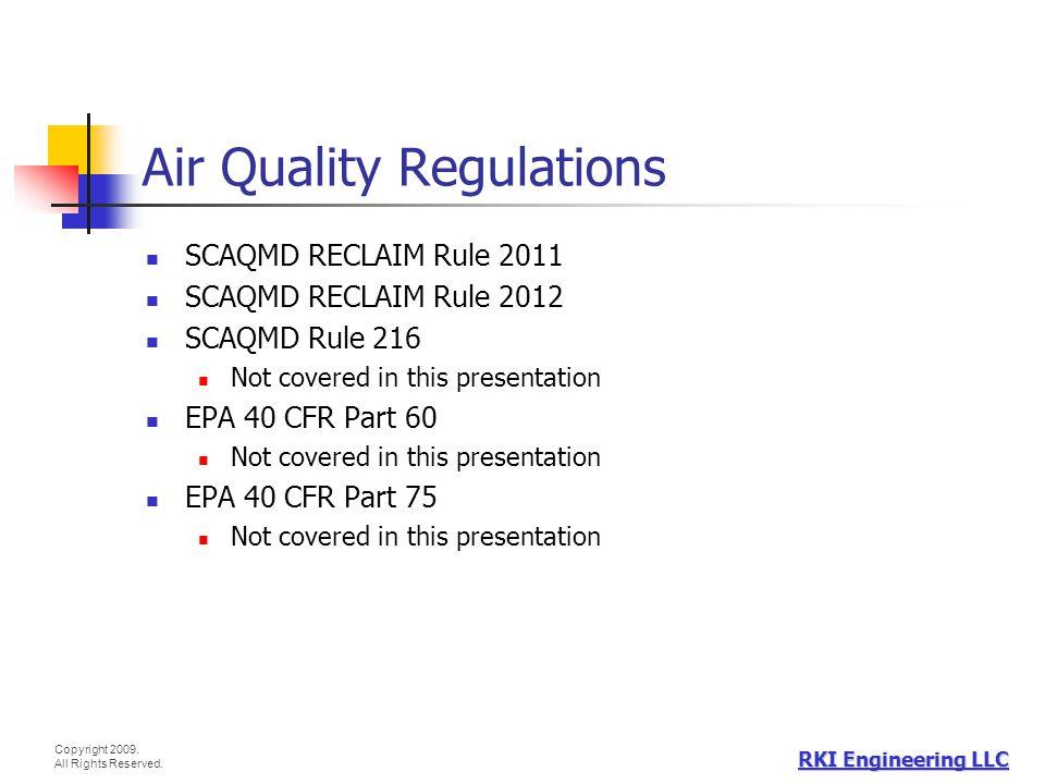Air Quality Regulations