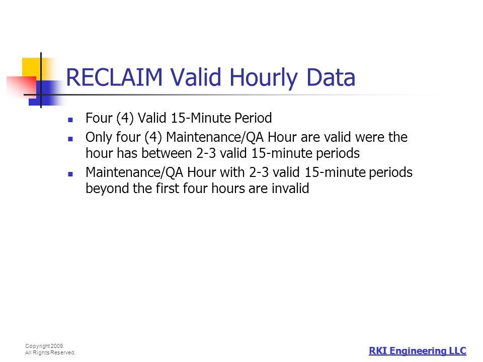 RECLAIM Valid Hourly Data